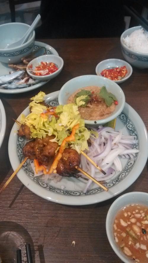 Brochettes de crevettes grillées au Saté-Tiger Prawn
