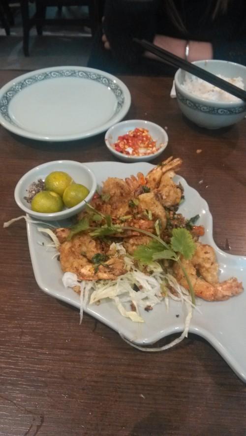 Mon plat favori Crevettes sautées au poivre et sel -Tiger Prawn