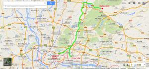 Itinéraire du centre ville de Canton